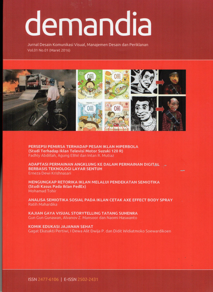 Jurnal Demandia Vol.1 No.1 Maret 2016